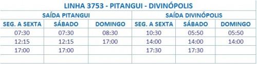HORARIO DE ONIBUS 3753 PITANGUI DIVINOPOLIS